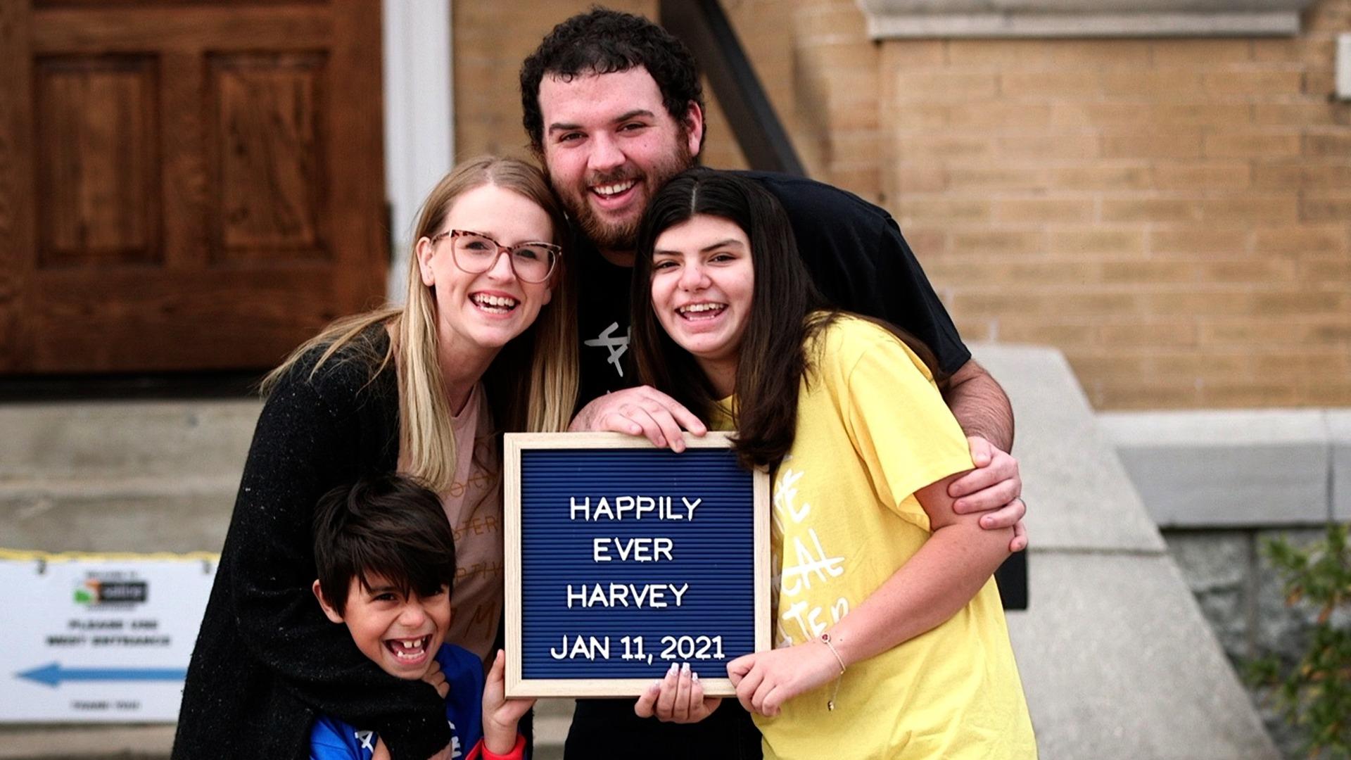 Harvey Family Adoption Photo